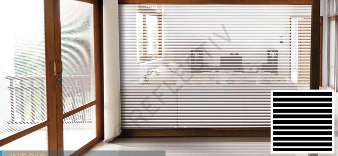 sichtschutz int212 white stripes of 13 mm. Black Bedroom Furniture Sets. Home Design Ideas